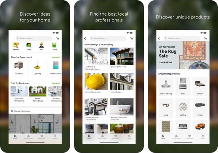 Houzz Home Design & Remodel iPhone and iPad App Screenshot