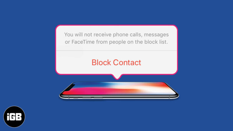 how to block number or contact on iphone