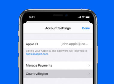 how to change apple id country or region on iphone, ipad, and mac
