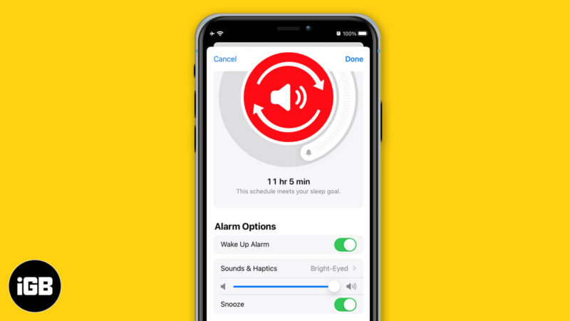 How to Change Bedtime Alarm Sound on iPhone