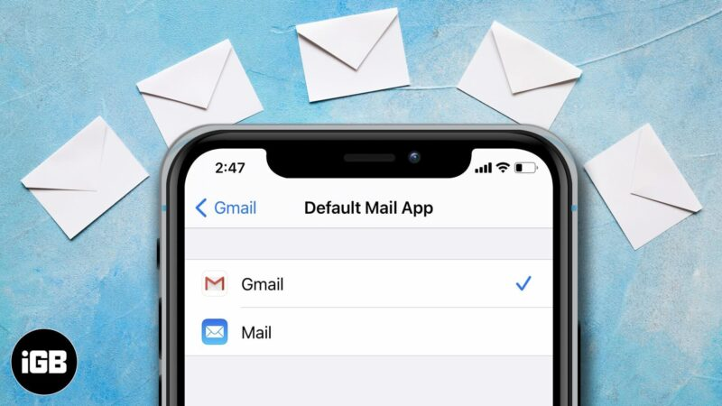 how to change default mail app on iphone