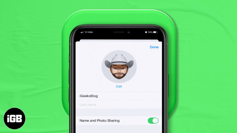 How to Customize your iMessage Profile