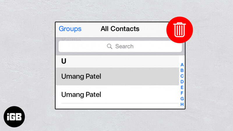 how to delete duplicate contacts on iphone and mac
