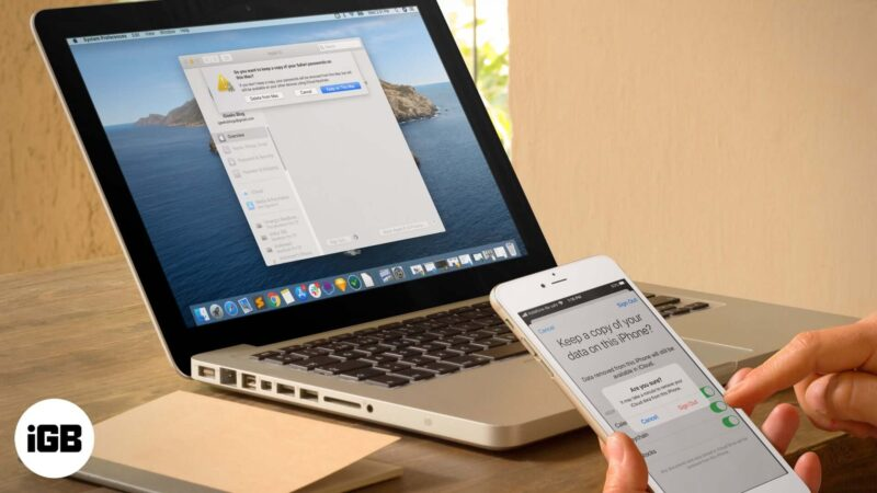 how to delete icloud account from iphone ipad and mac