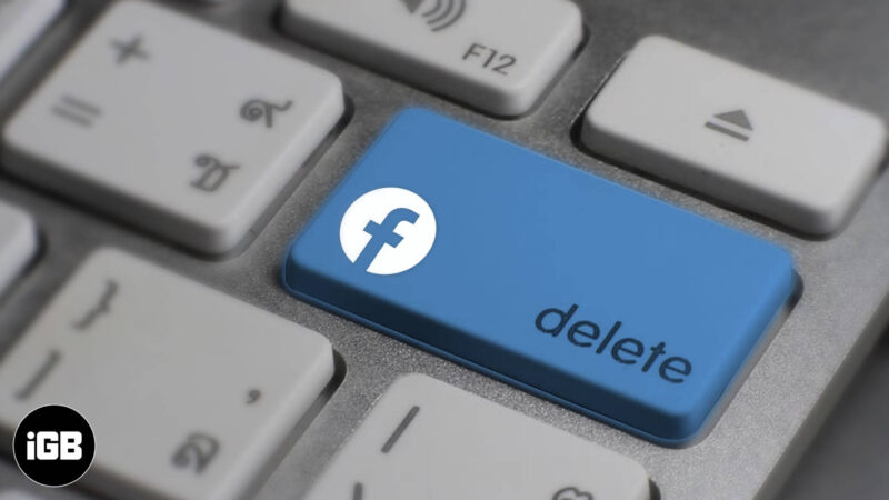 how to delete your facebook account on iphone and computer