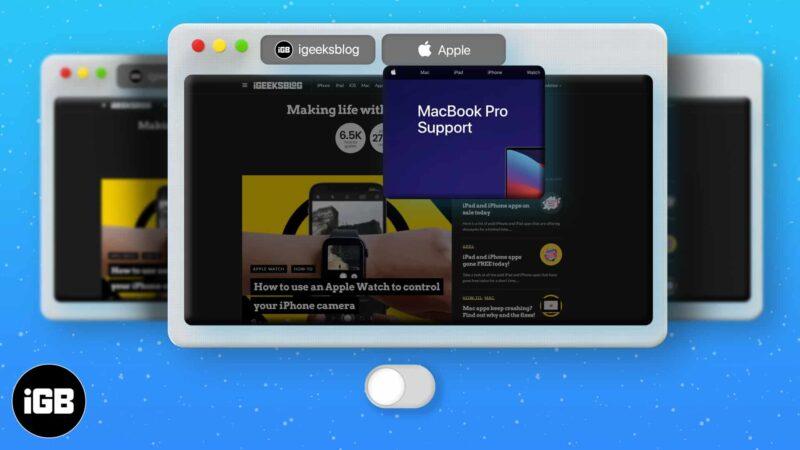 How to disable Safari Tab Previews on Mac
