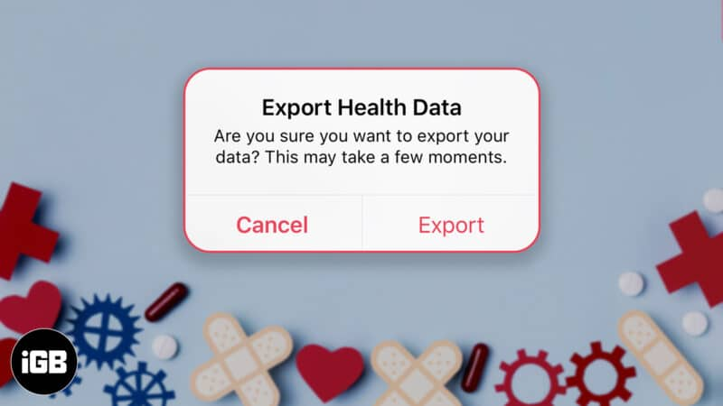 how to export health data from iphone