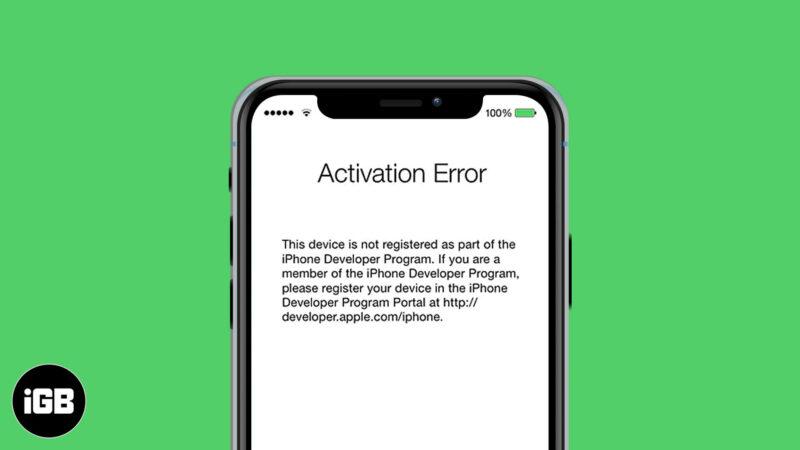 how to fix iphone activation error