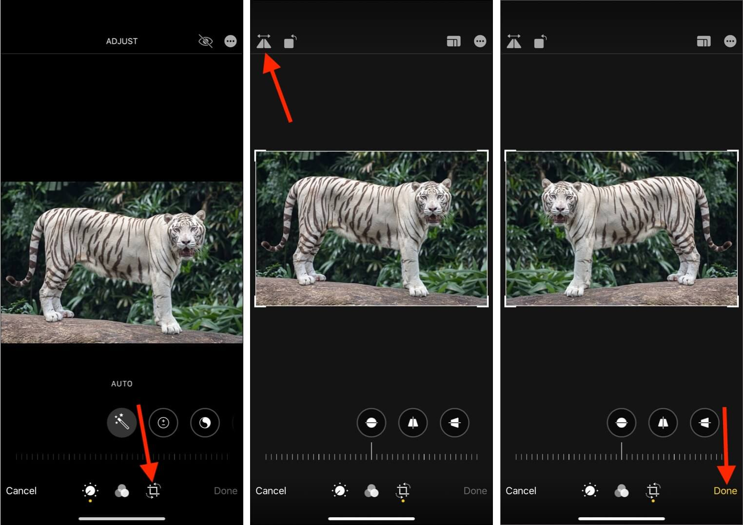 How to flip an image on iPhone or iPad using Photos app