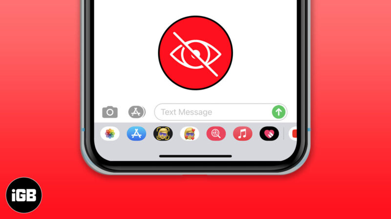 how to hide or remove imessage app drawer on iphone