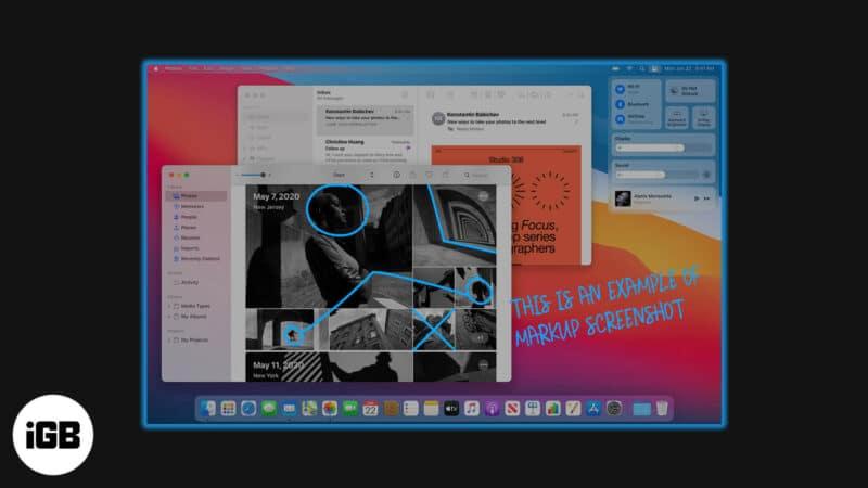 how to markup screenshots on mac