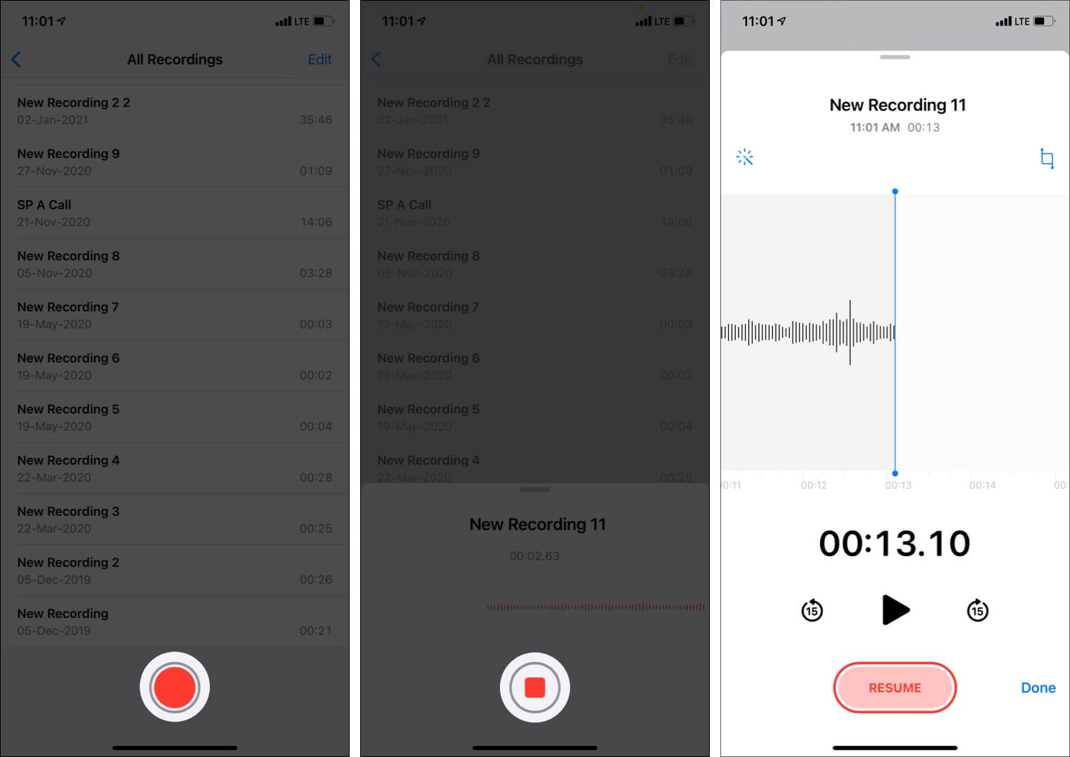 How to record a voice memo