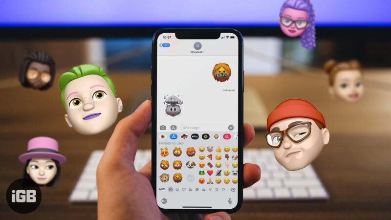 how to remove memoji stickers from iphone