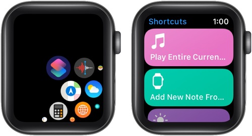 How to run a shortcut on Apple Watch
