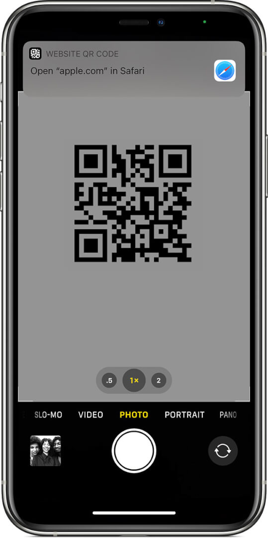 How to scan QR codes with iPhone camera