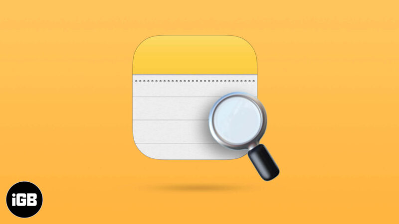 How to Search Notes on iPhone and iPad