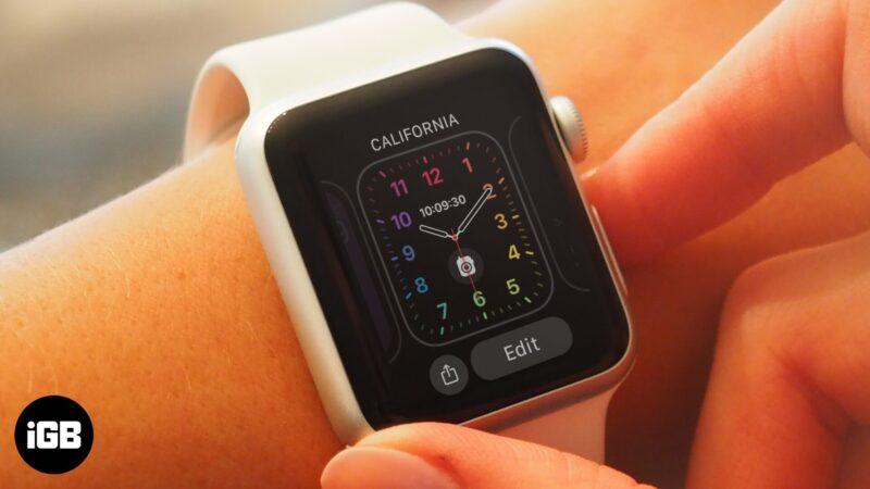 how to share apple watch face
