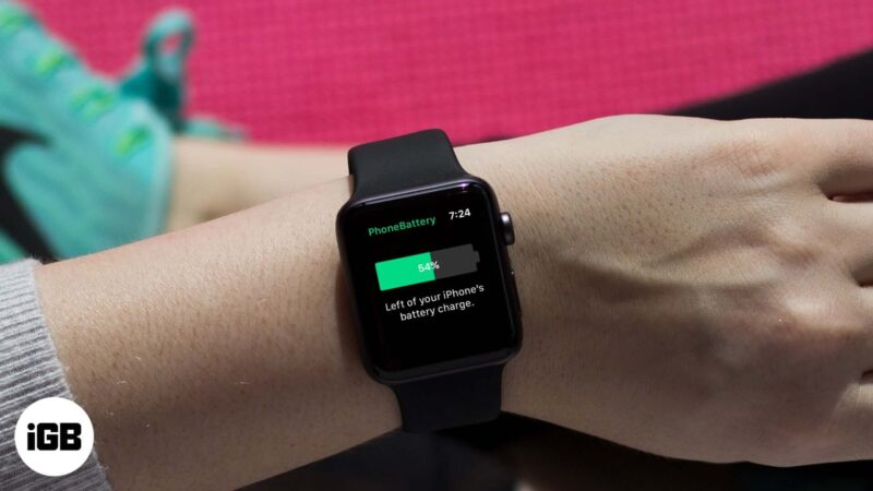 How to Show iPhone Battery Percentage on Apple Watch
