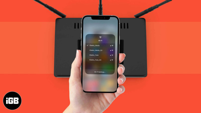 How to Switch WiFi Networks from Control Centre on iPhone