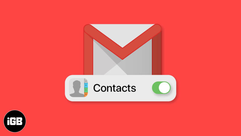 how to sync contacts from gmail to iphone or ipad