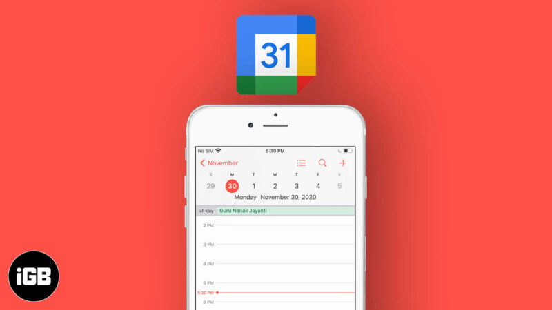 How to Sync Google Calendar with iPhone and iPad