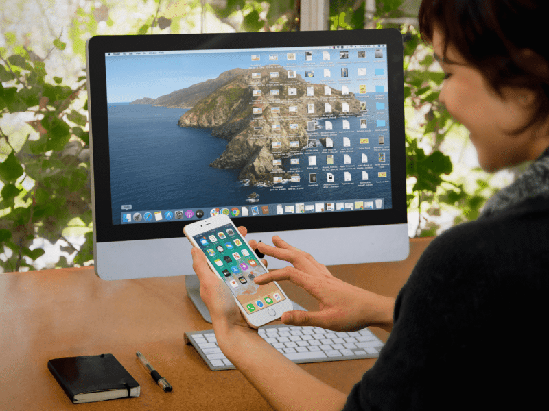 how to sync iphone and ipad with mac on macos catalina
