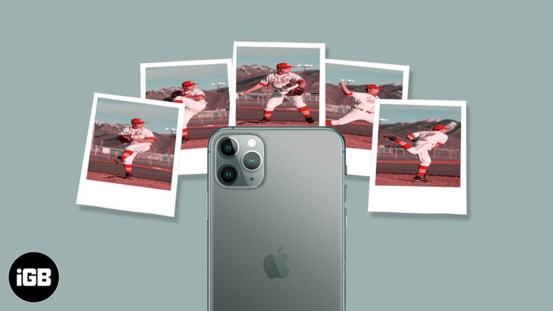 how to take burst photos on iphone 11 and 11 pro