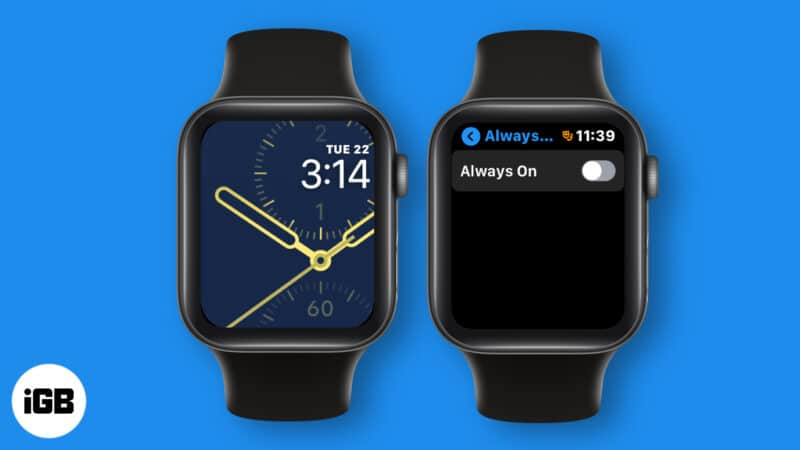 how to turn off always on display on apple watch