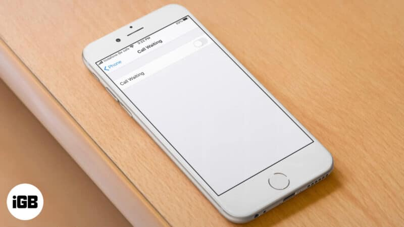 How to Turn Off Call Waiting on iPhone