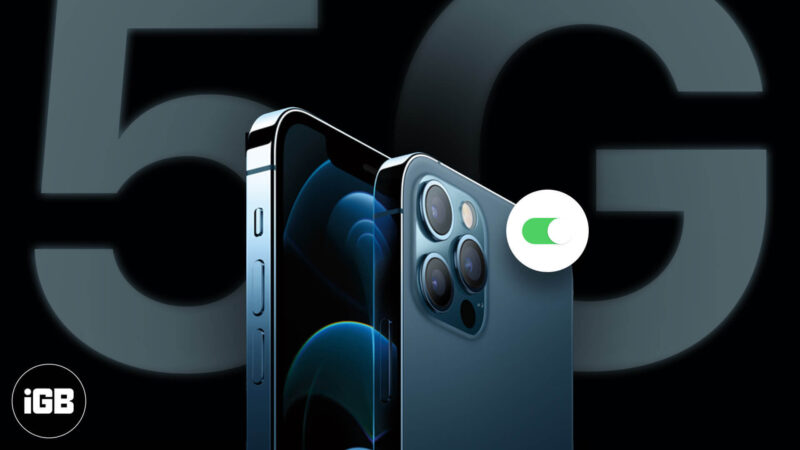 How to Turn ON or OFF 5G on iPhone 12 Series