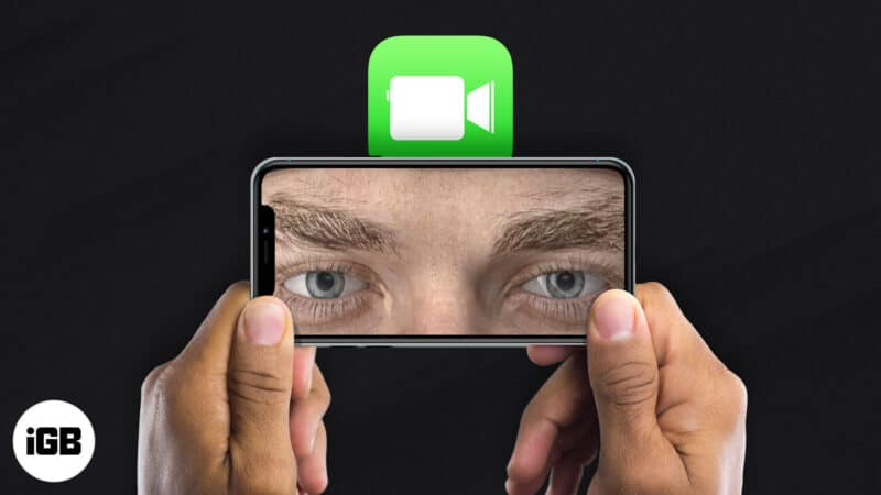 how to use facetime eye contact on iphone