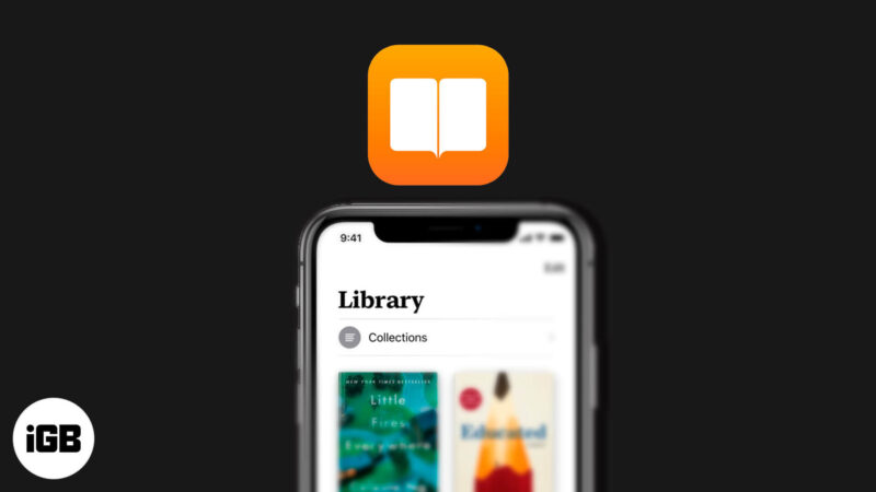 how to use library on apple books app