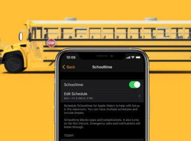 how to use schooltime on apple watch