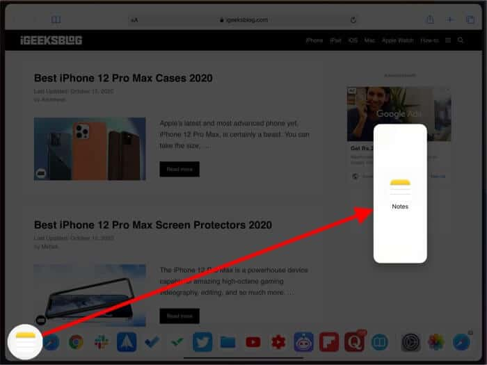 How to Use Slide Over on iPad