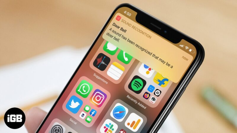 how to use sound recognition feature on iphone