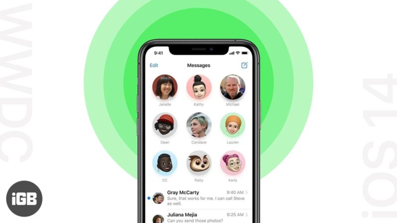 how to use the new messages app on iphone running ios 14