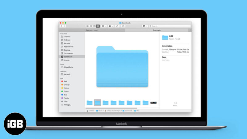 How to View Folder Sizes on Mac