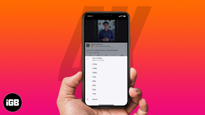 How to Watch 4K YouTube videos on iPhone, iPad, and Apple TV