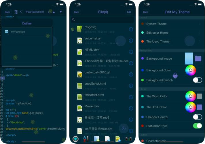 html+css+js-web designer iPhone and iPad HTML Editor App Screenshot