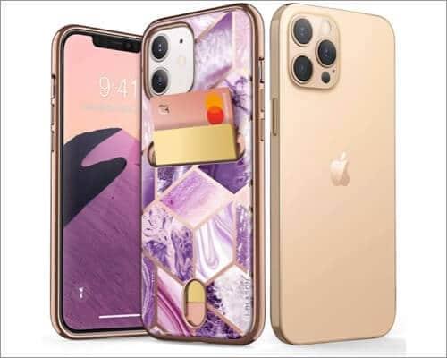i-Blason Slim Designer Wallet Case for iPhone 12 and 12 Pro