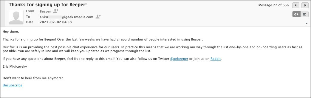 I signed up for Beeper to get iMessage on Windows and Android