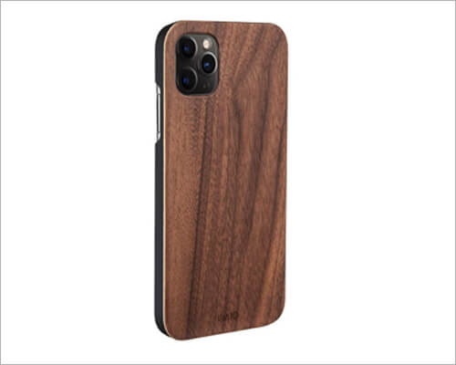 iATO Real Walnut Wood Case for iPhone 11 Pro Max