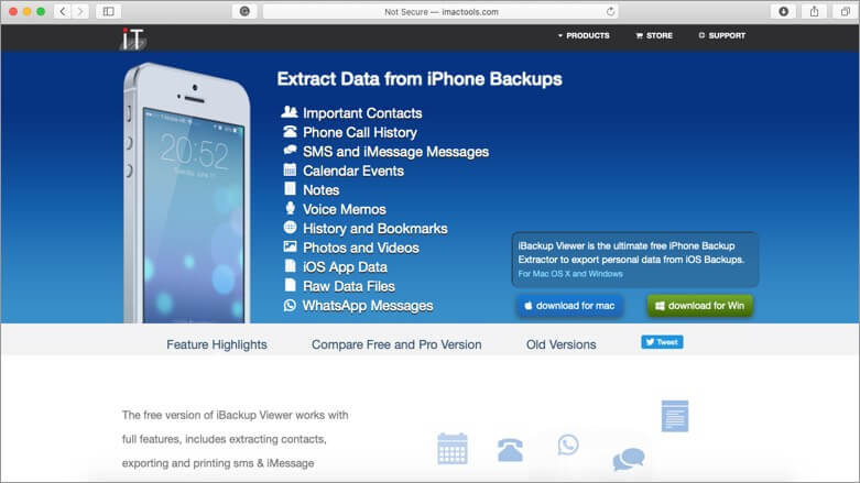 iBackup Viewer Text Message Recovery Software