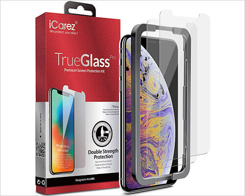 iCarez iPhone Xs Max Tempered Glass Screen Protector