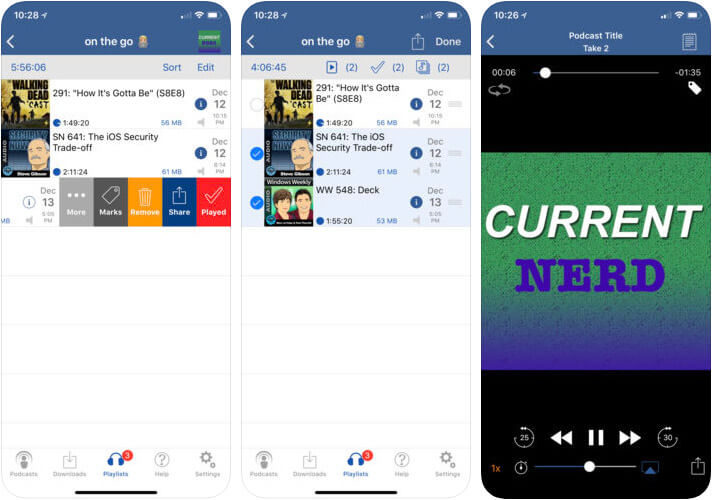 iCatcher Podcast Player iPhone and iPad App Screenshot