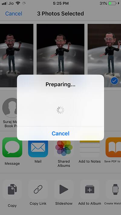 iCloud Link has been create in iOS 12