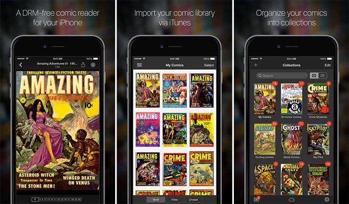 iComics iPhone and iPad App Screenshot
