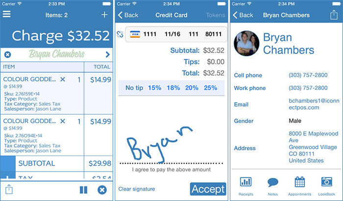 iConnect iPhone and iPad POS App Screenshot