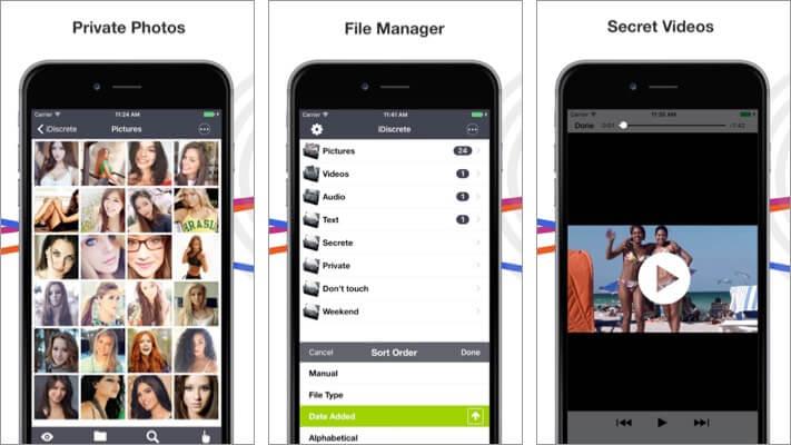 iDiscrete Security iPhone App Screenshot