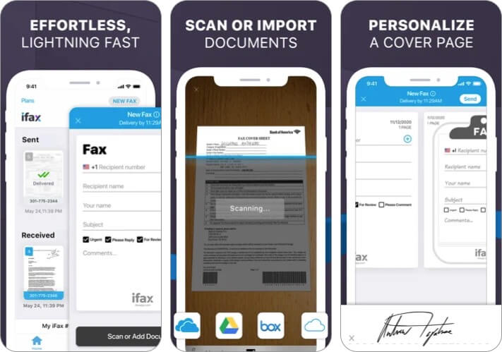 iFax best Fax App for iPhone and iPad Screenshot